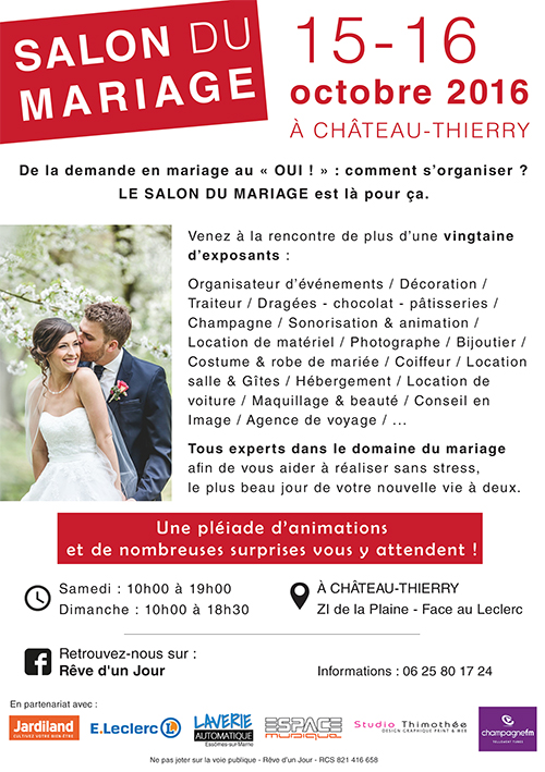 salon du mariage ch teau thierry les 15 et 16 octobre 2016 champagne moutardier. Black Bedroom Furniture Sets. Home Design Ideas